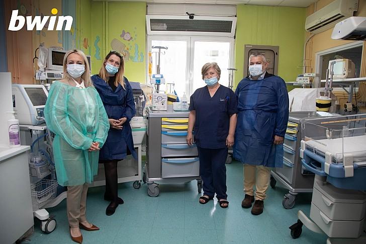 """Η bwin στηρίζει το έργο των Ιατρών και του Νοσηλευτικού προσωπικού στο Νοσοκομείο Παίδων """"Π. & Α. Κυριακού"""""""
